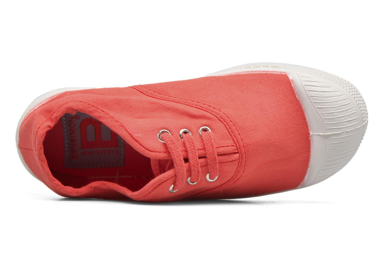 Deportivas Bensimon Tennis Lacets E Rojo vista lateral izquierda