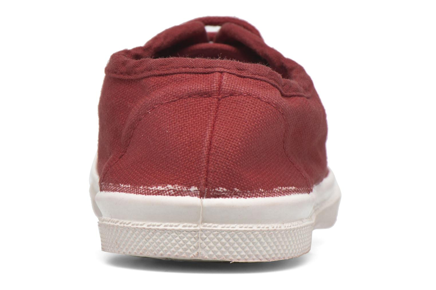 Trainers Bensimon Tennis Lacets E Red view from the right