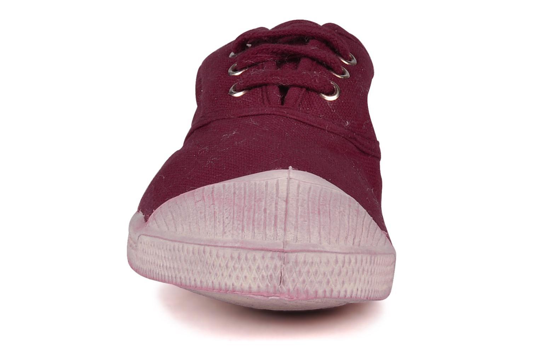 Baskets Bensimon Tennis Lacets E Rose vue portées chaussures