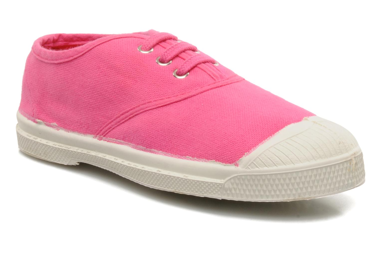 Baskets Bensimon Tennis Lacets E Rose vue détail/paire
