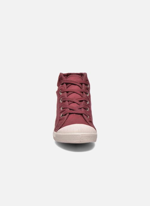 Trainers Bensimon Tennis Mid E Burgundy model view
