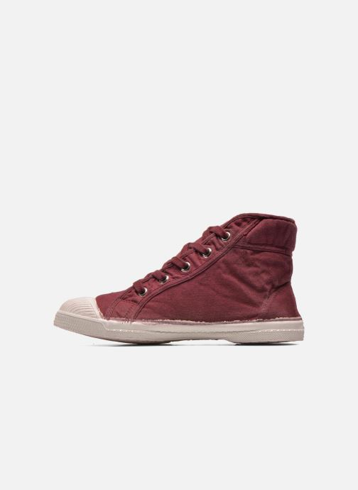Trainers Bensimon Tennis Mid E Burgundy front view