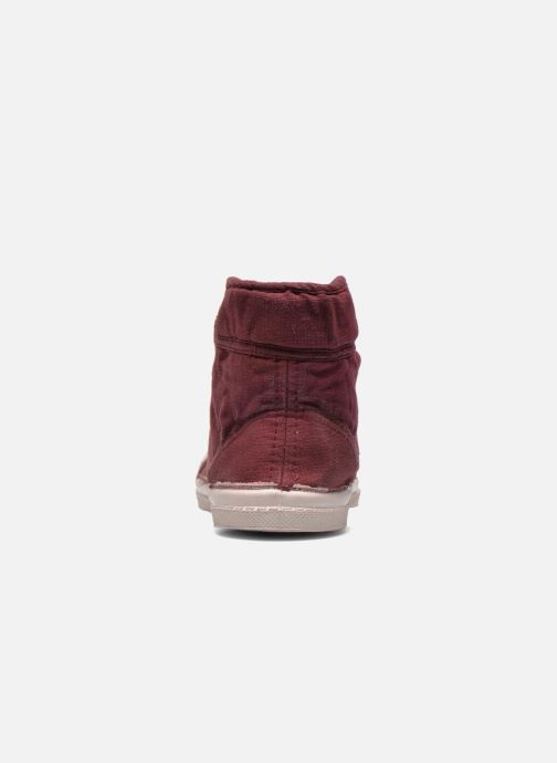 Trainers Bensimon Tennis Mid E Burgundy view from the right