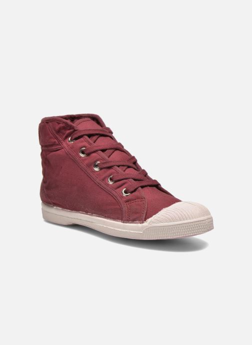 Trainers Bensimon Tennis Mid E Burgundy detailed view/ Pair view