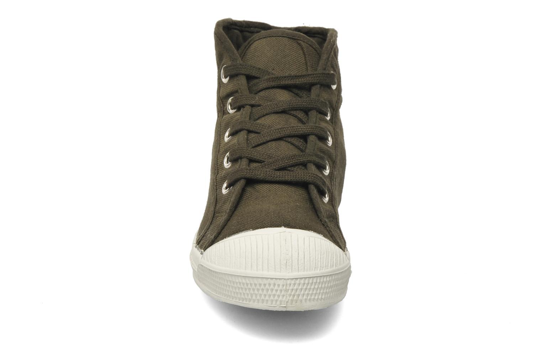 Baskets Bensimon Tennis Mid E Vert vue portées chaussures