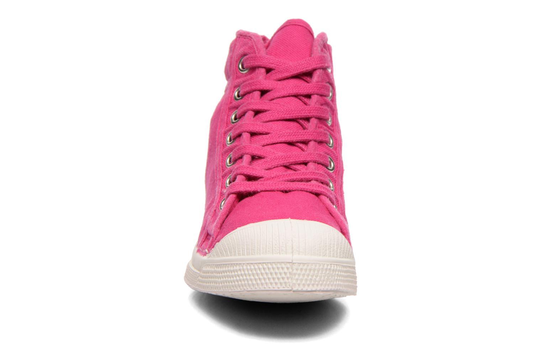 Baskets Bensimon Tennis Mid E Rose vue portées chaussures