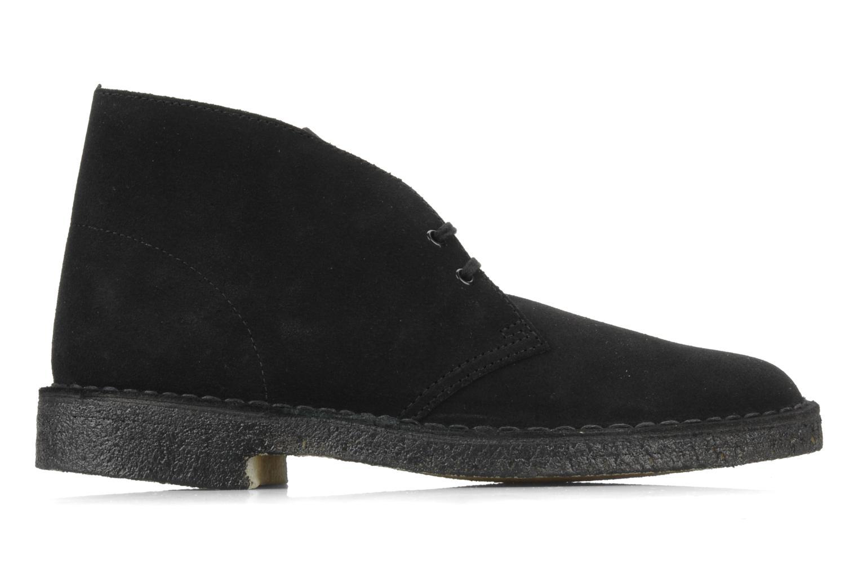 Chaussures à lacets Clarks Desert Boot M Noir vue derrière
