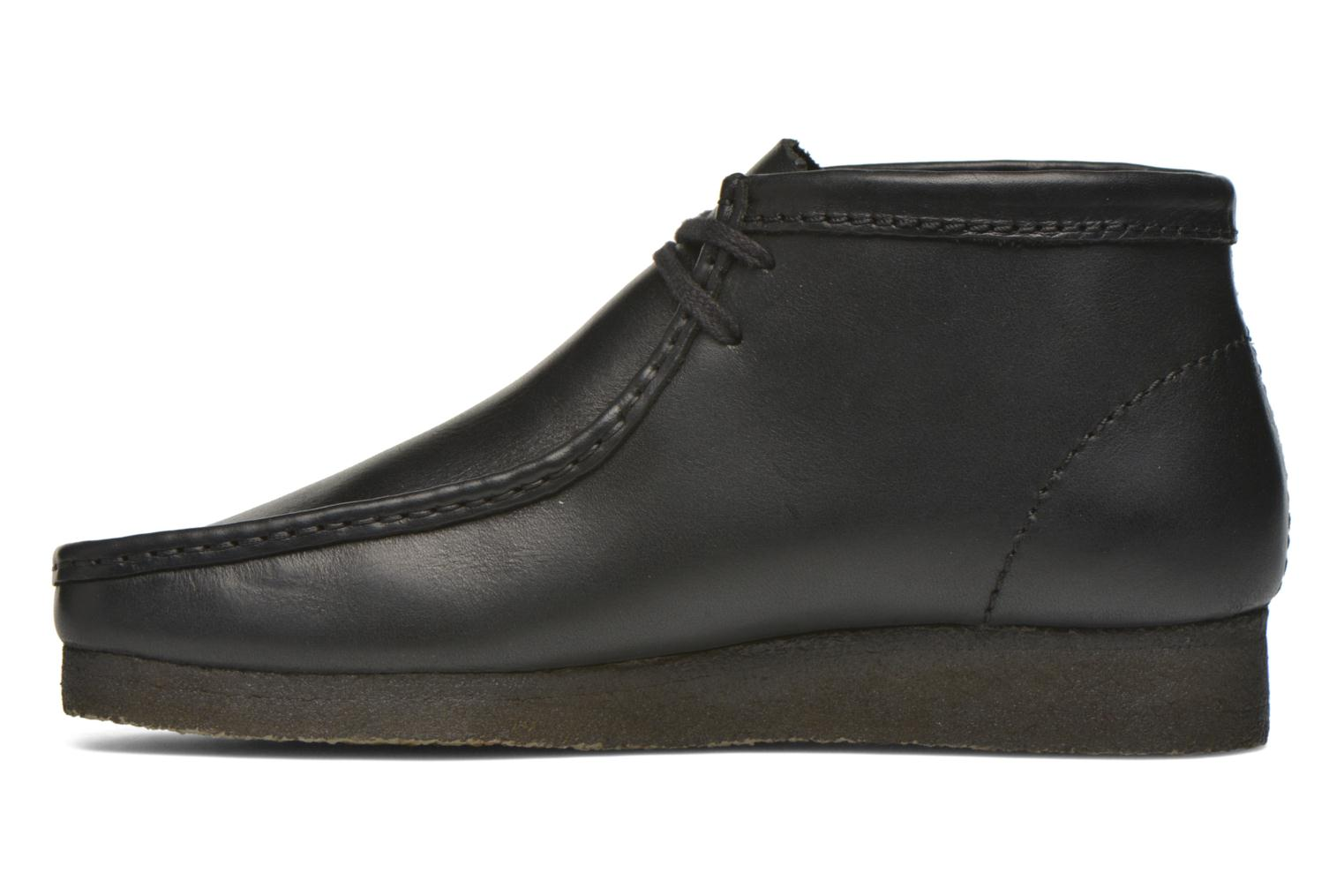 Chaussures à lacets Clarks Originals Wallabee Boot M Noir vue face