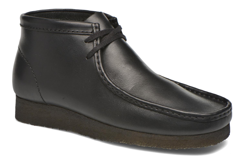 Snøresko Clarks Originals Wallabee Boot M Sort detaljeret billede af skoene