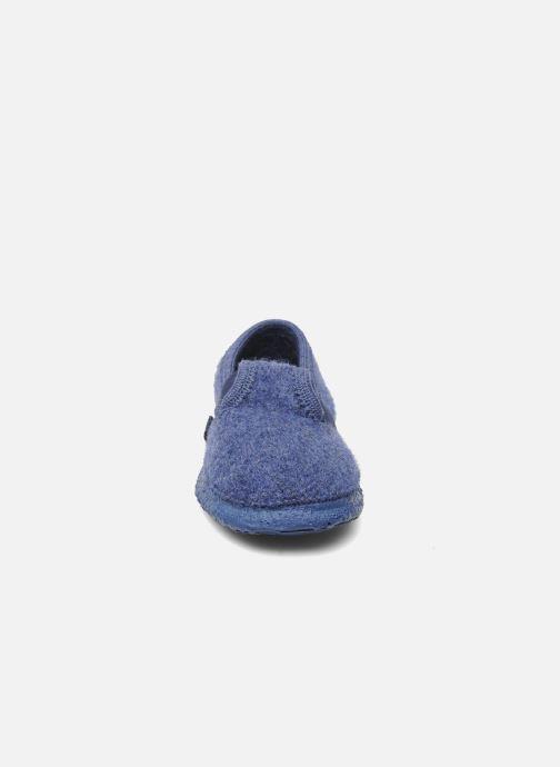 Hausschuhe Giesswein Türnberg blau schuhe getragen