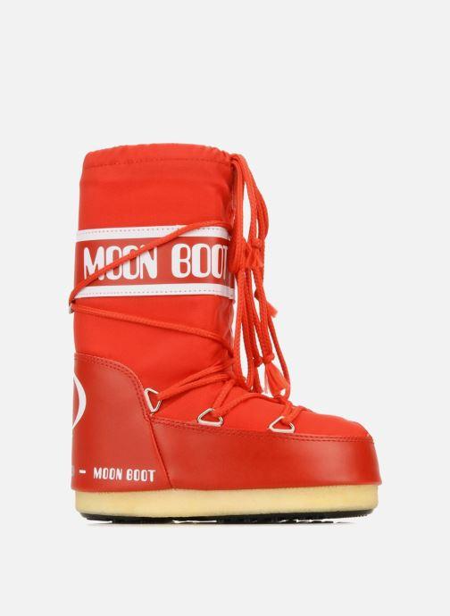 Sportskor Moon Boot Moon Boot Nylon E Röd bild från baksidan