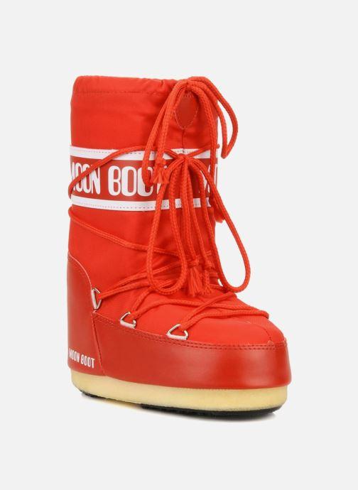 Sportskor Moon Boot Moon Boot Nylon E Röd detaljerad bild på paret