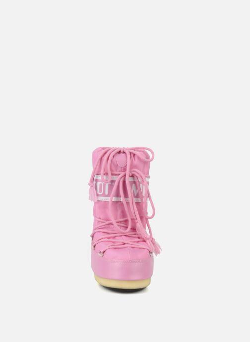 Chaussures de sport Moon Boot Moon Boot Nylon Rose vue portées chaussures