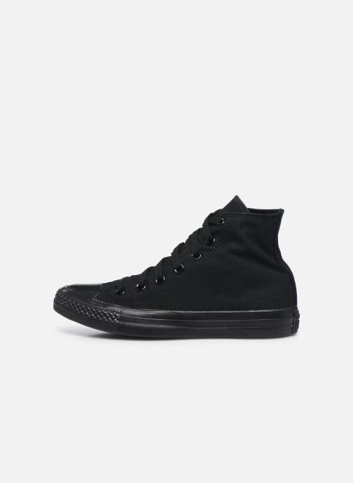 Sneaker Converse Chuck Taylor All Star Monochrome Canvas Hi W schwarz ansicht von vorne