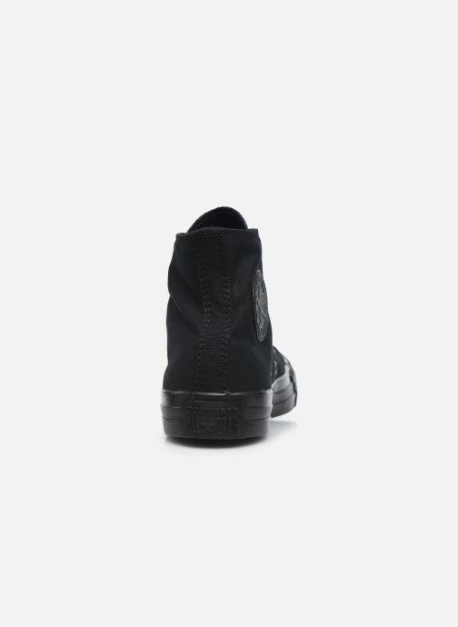Sneaker Converse Chuck Taylor All Star Monochrome Canvas Hi W schwarz ansicht von rechts
