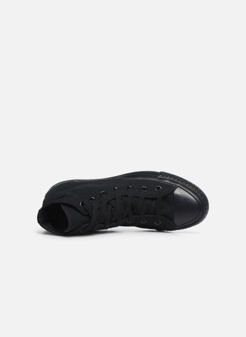 Sneaker Converse Chuck Taylor All Star Monochrome Canvas Hi W schwarz ansicht von links