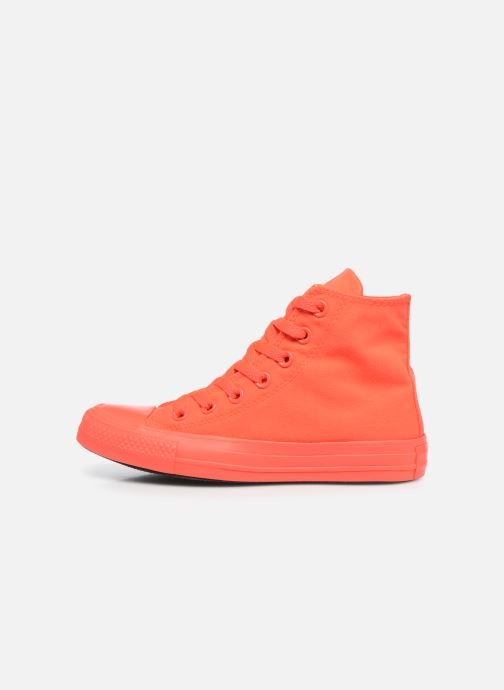 Sneakers Converse Chuck Taylor All Star Monochrome Canvas Hi W Rød se forfra