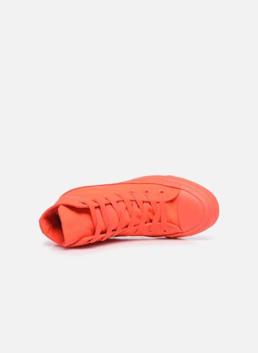 Sneakers Converse Chuck Taylor All Star Monochrome Canvas Hi W Rød se fra venstre