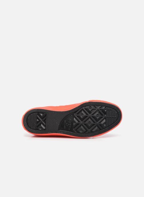 Sneaker Converse Chuck Taylor All Star Monochrome Canvas Hi W rot ansicht von oben