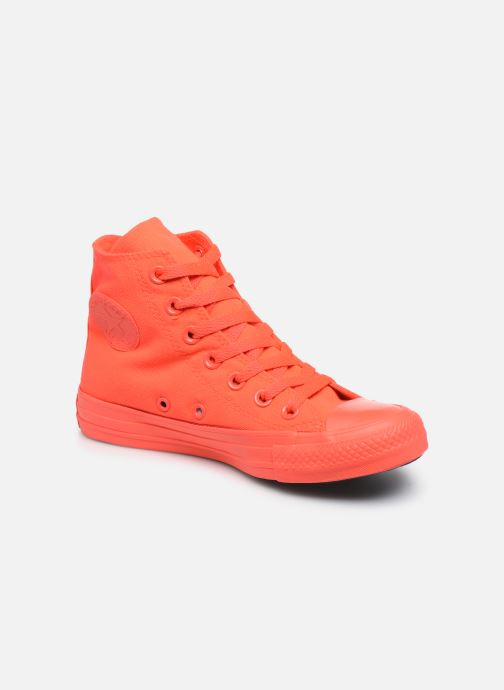 Sneakers Converse Chuck Taylor All Star Monochrome Canvas Hi W Rød detaljeret billede af skoene