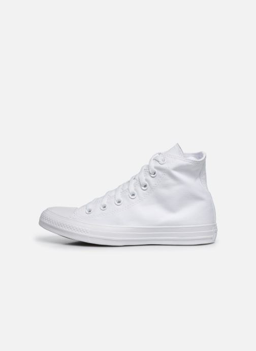 Trainers Converse Chuck Taylor All Star Monochrome Canvas Hi W White front view