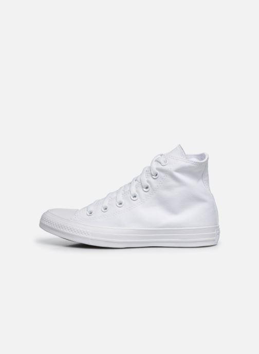 Sneaker Converse Chuck Taylor All Star Monochrome Canvas Hi W weiß ansicht von vorne