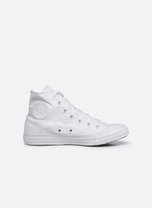 Sneaker Converse Chuck Taylor All Star Monochrome Canvas Hi W weiß ansicht von hinten