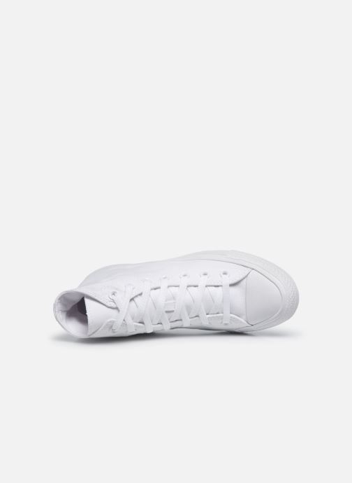 Baskets Converse Chuck Taylor All Star Monochrome Canvas Hi W Blanc vue gauche