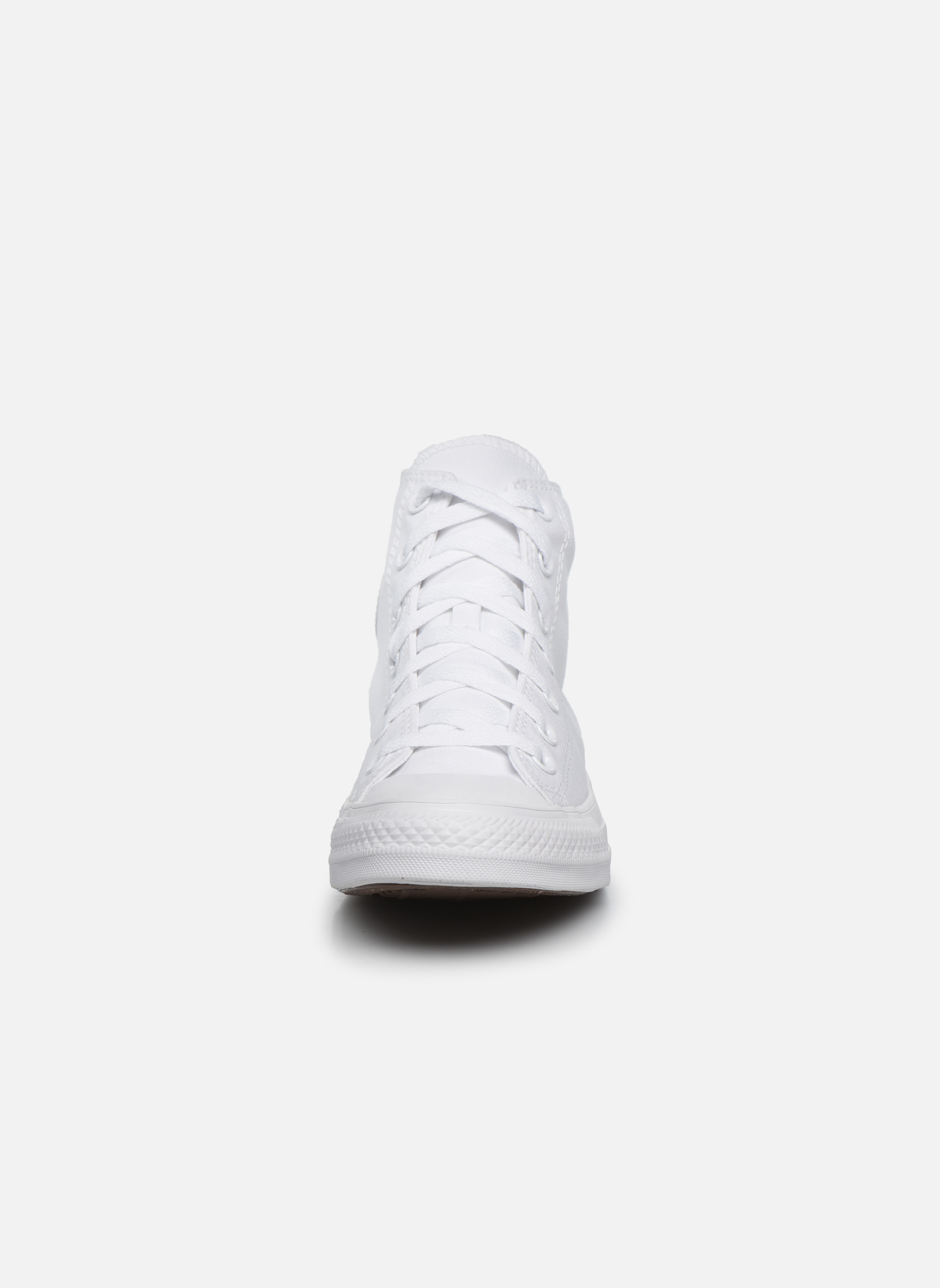 Sneakers Converse Chuck Taylor All Star Monochrome Canvas Hi W Bianco modello indossato