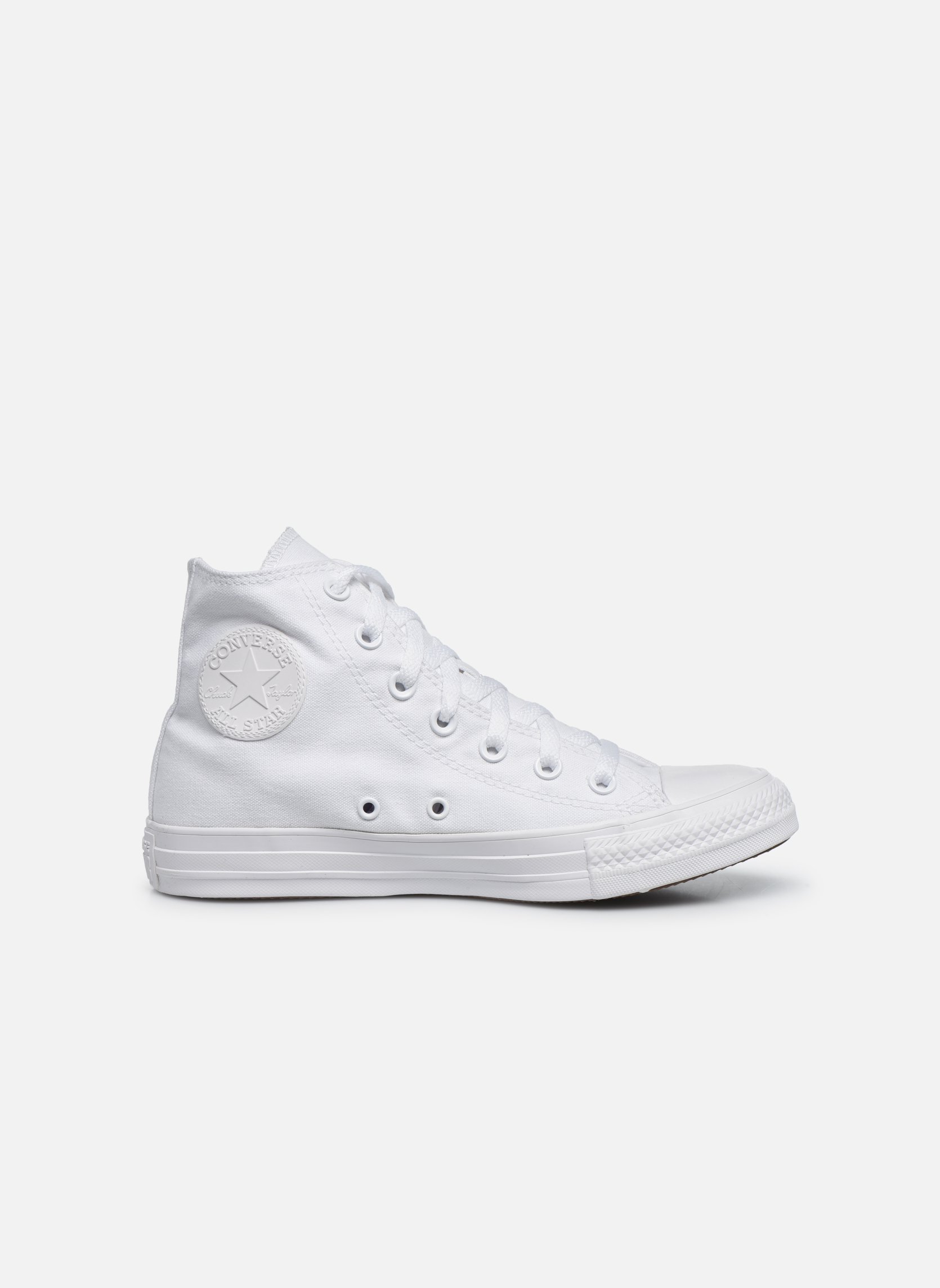 Sneakers Converse Chuck Taylor All Star Monochrome Canvas Hi W Bianco immagine posteriore