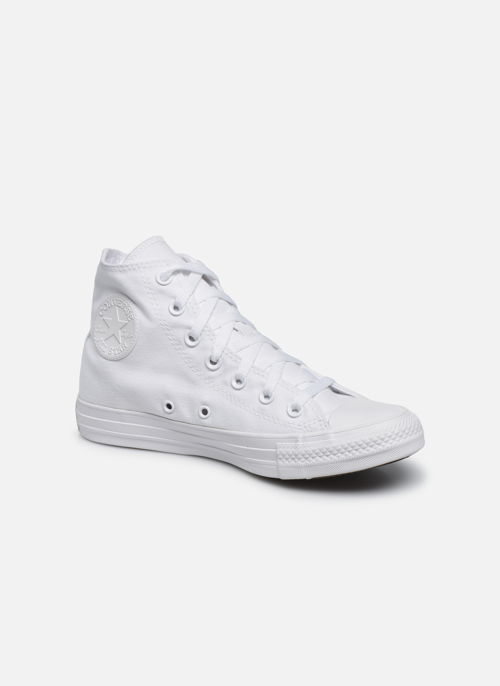 Trainers Converse Chuck Taylor All Star Monochrome Canvas Hi W White detailed view/ Pair view