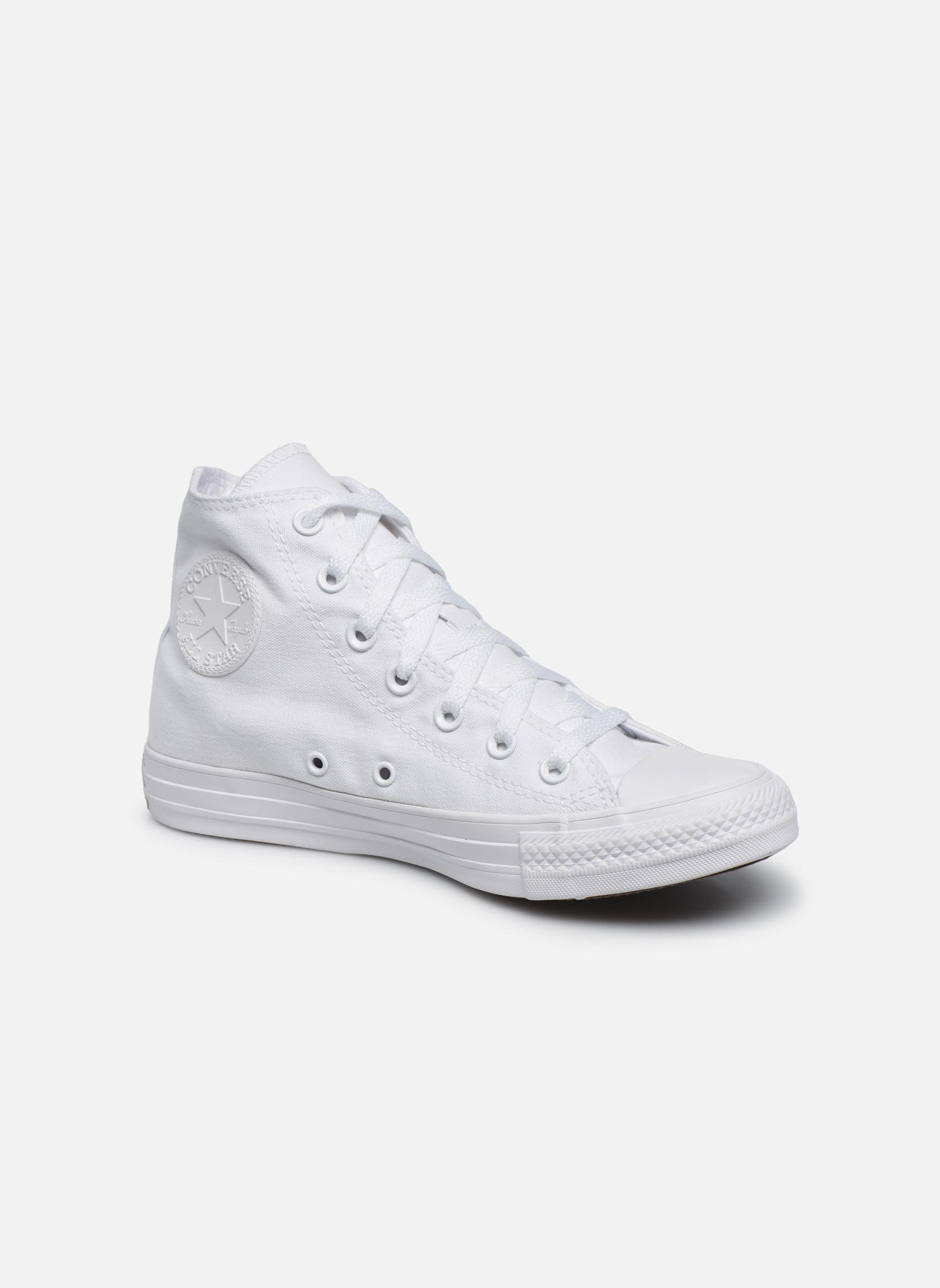 20b682493e2a Converse Chuck Taylor All Star Monochrome Canvas Hi W (White ...