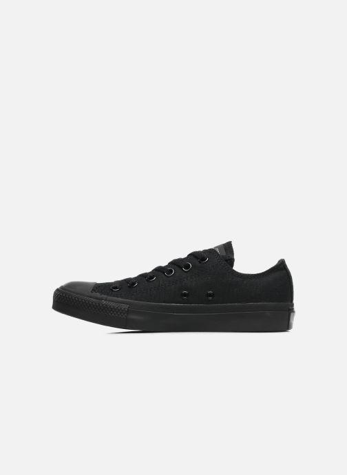 Sneaker Converse Chuck Taylor All Star Monochrome Canvas Ox W schwarz ansicht von vorne