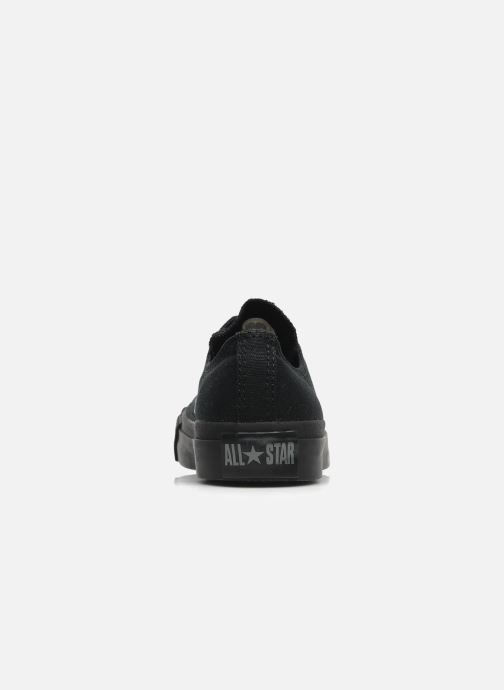 Deportivas Converse Chuck Taylor All Star Monochrome Canvas Ox W Negro vista lateral derecha