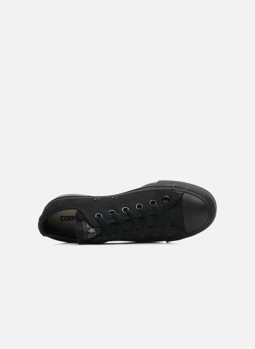 Sneaker Converse Chuck Taylor All Star Monochrome Canvas Ox W schwarz ansicht von links