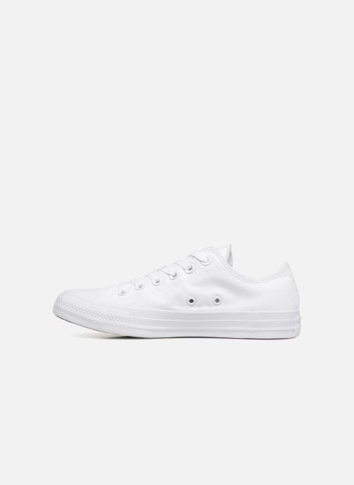 Baskets Converse Chuck Taylor All Star Monochrome Canvas Ox W Blanc vue face