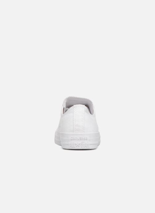 Sneaker Converse Chuck Taylor All Star Monochrome Canvas Ox W weiß ansicht von rechts