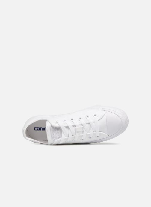 Sneaker Converse Chuck Taylor All Star Monochrome Canvas Ox W weiß ansicht von links