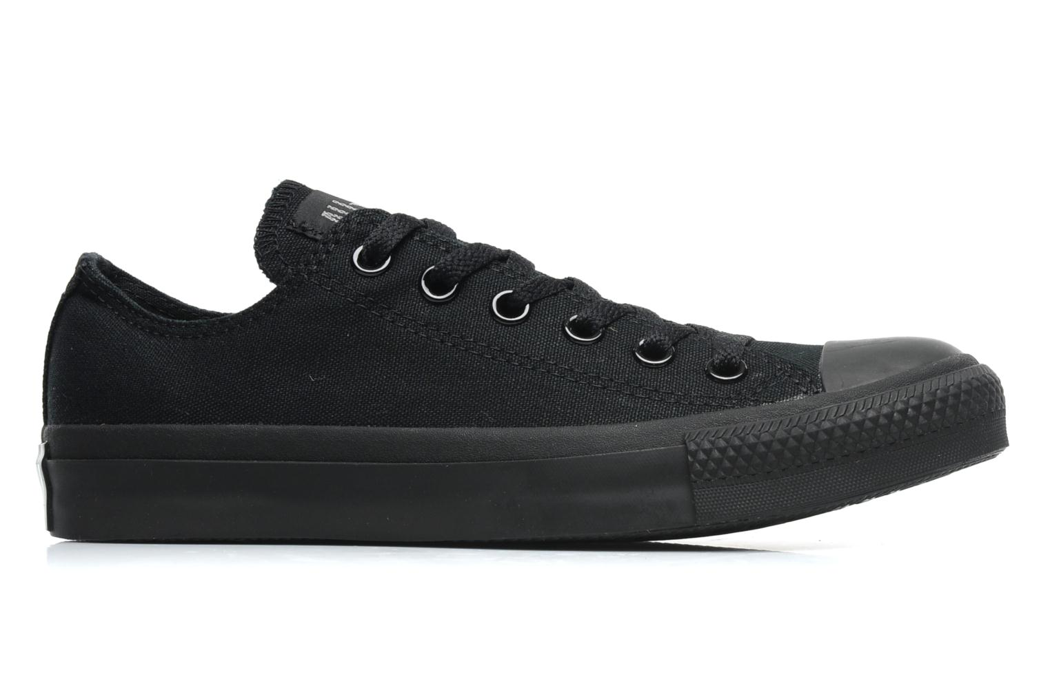 Baskets Converse Chuck Taylor All Star Monochrome Canvas Ox W Noir vue derrière