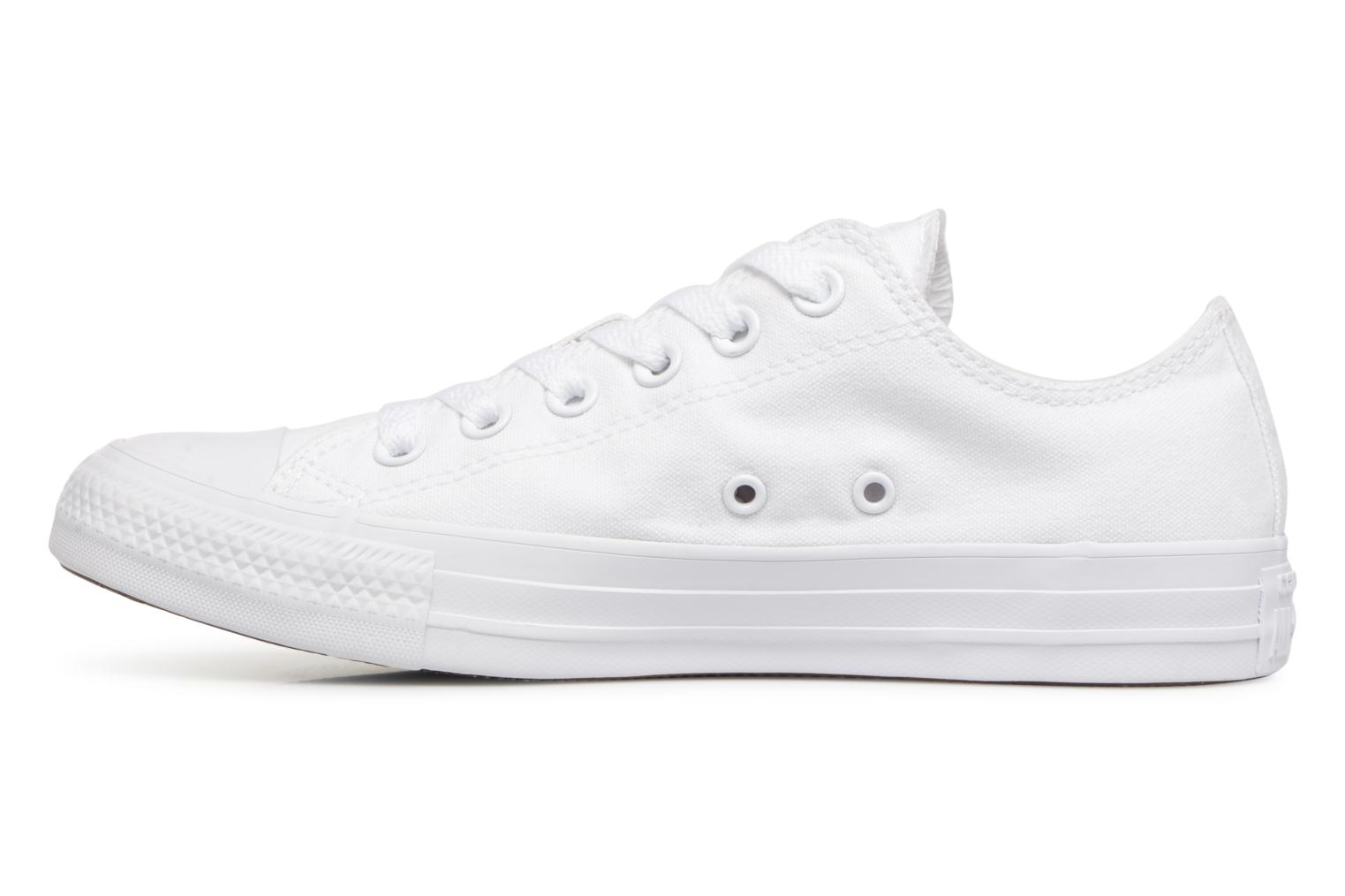 Sneakers Converse Chuck Taylor All Star Monochrome Canvas Ox W Bianco immagine frontale