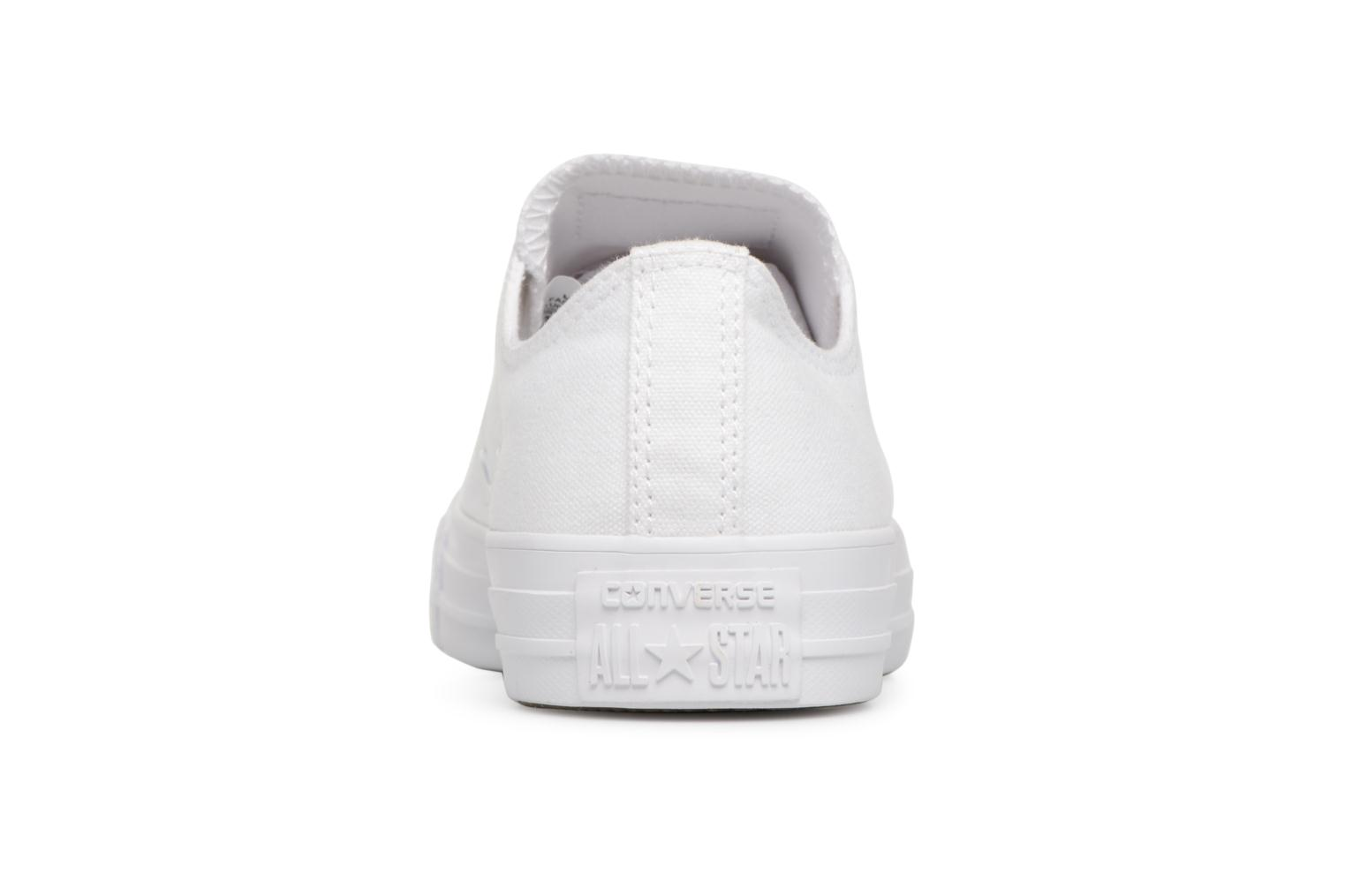 Deportivas Converse Chuck Taylor All Star Monochrome Canvas Ox W Blanco vista lateral derecha