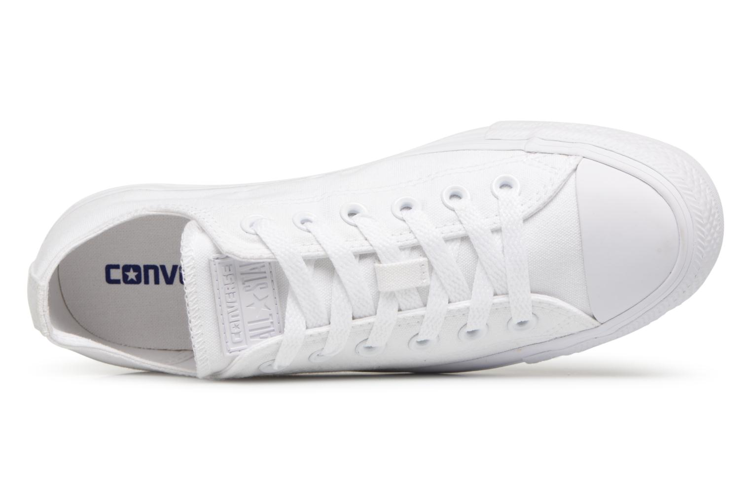Deportivas Converse Chuck Taylor All Star Monochrome Canvas Ox W Blanco vista lateral izquierda