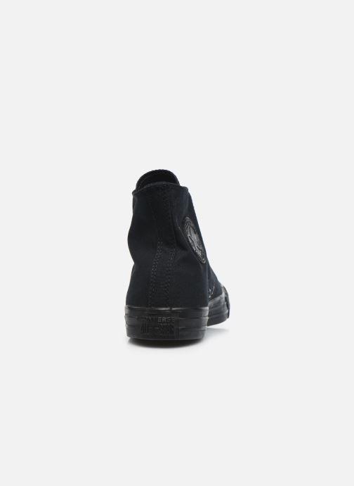 Sneaker Converse Chuck Taylor All Star Monochrome Canvas Hi M schwarz ansicht von rechts