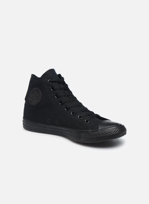 Sneakers Converse Chuck Taylor All Star Monochrome Canvas Hi M Sort detaljeret billede af skoene