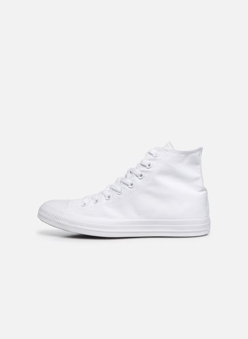 Sneakers Converse Chuck Taylor All Star Monochrome Canvas Hi M Hvid se forfra