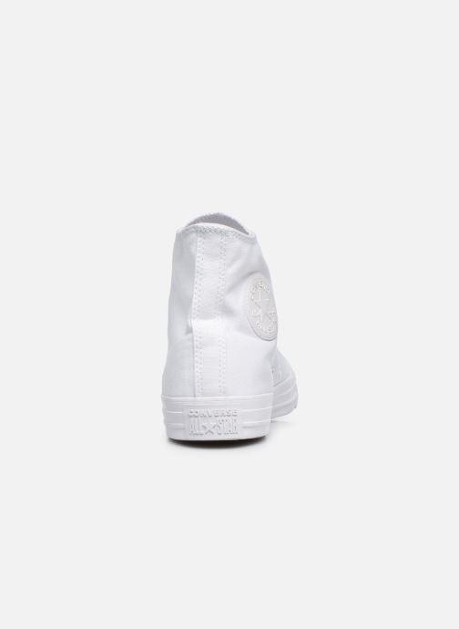 Sneakers Converse Chuck Taylor All Star Monochrome Canvas Hi M Bianco immagine destra