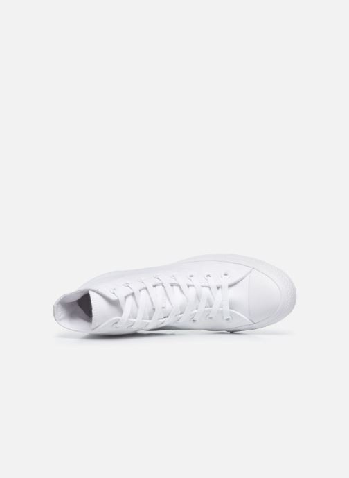 Sneaker Converse Chuck Taylor All Star Monochrome Canvas Hi M weiß ansicht von links