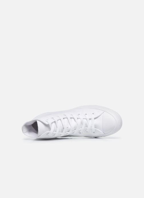 Sneakers Converse Chuck Taylor All Star Monochrome Canvas Hi M Bianco immagine sinistra