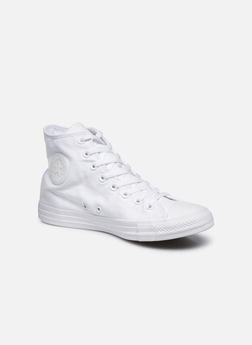 Sneakers Converse Chuck Taylor All Star Monochrome Canvas Hi M Hvid detaljeret billede af skoene