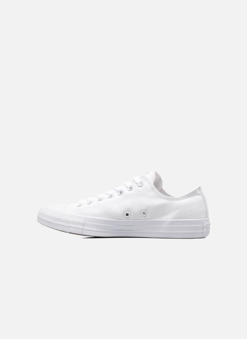 Baskets Converse Chuck Taylor All Star Monochrome Canvas Ox M Blanc vue face
